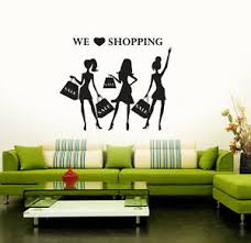 Shopping Fashion Style Women Girls Shop Wall Stickers Vinyl Decal Ig3145 Ebay