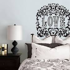 Oversized Wall Decal Makes Up For No Headboard Diy Wall Decor For Bedroom Wall Decor Bedroom Bedroom Diy