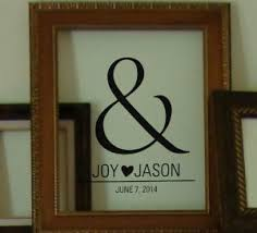 Ampersand Custom Name With Heart Wall Decal