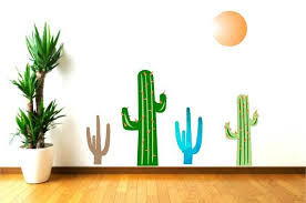 Large Cactus Wall Decals Nursery Decor Cactus Kids Wall Etsy