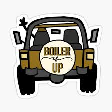 Boiler Up Purdue Jeep Sticker By Oliviabaehl Redbubble
