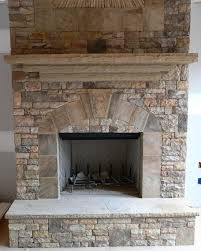 stacked stone fireplace real stack