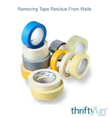 removing tape residue from walls