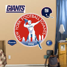 New York Giants Classic Logo Wall Decal Allposters Com