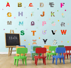 Amazon Com Adorable Animal Alphabet Wall Decal Educational Abc Wall Sticker For Kids Bedroom Decoration Lovely Letters Nursery Classroom Wall Art Arts Crafts Sewing