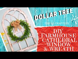 diy dollar tree cathedral window