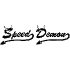 Speed Demon Decal Sticker Speed Demon B Decal Thriftysigns