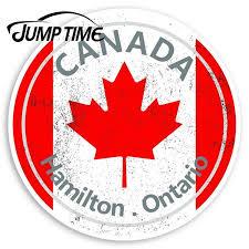 Jump Time Hamilton Vinyl Stickers Canada Flag Sticker Laptop Luggage Decal Decor Window Bumper Waterproof Car Stickers Aliexpress