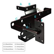Self Locking Latch Heavy Duty Post Mount Automatic Gravity Lever Wood Pvc Fence Gate Lock With Fasteners Hardware Shopee Philippines