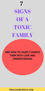 toxic family dynamics and characteristics and how to calmly handle