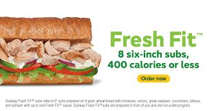 menu fresh fit choices subway