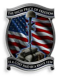 The High Cost Of Freedom American Flag Decal Battlefield Cross Ebay