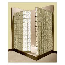 corner glass block shower