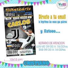 Invitacion Cumpleanos Futbol Kit Cristiano Juventus 115 00 En