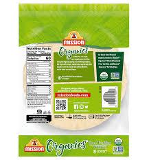 organic white corn tortillas mission