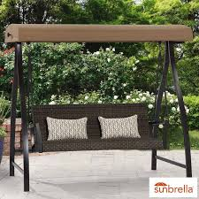 agio springdale patio swing with canopy