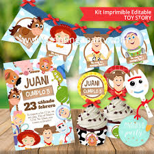 Kit Imprimible Toy Story 4 Tarjeta Decoracion Fiesta Toy Story