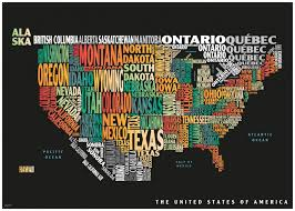 map of the united states graphic