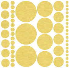 Amazon Com 317 Assorted Size Gold Polka Dot Decals Repositionable Peel And Stick Circle Wall Decals For Nursery Kids Room Mirrors And Doors Home Kitchen