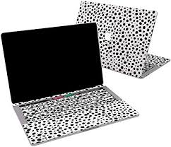 Amazon Com Lex Altern Vinyl Skin For Macbook Air 13 Inch Mac Pro 16 15 Retina 12 11 2020 2019 2018 2017 White Black Dot Fancy Cow Leopard Abstract Minimal Laptop Cover Protective