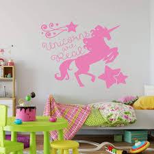 Girls Wall Decal Unicorns Vinyl Decor Wall Decal Customvinyldecor Com