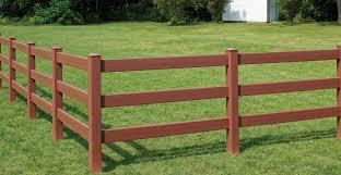 Bufftech 3 Rail Post Rail Certagrain Texture Vinyl Fence Liw Rail And Fence Llc