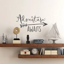 Travel Theme Adventure Awaits Vinyl Wall Decal Home Decoration Quotes Kids Bedroom Decor Wall Sticker Art Vinyl Wallpaper Ny 360 Vinyl Wall Decals Wall Decalsvinyl Wall Aliexpress