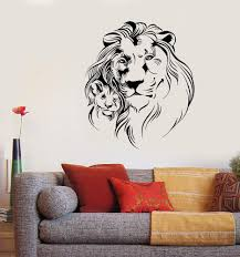Vinyl Wall Decal Lion Lionet Father And Son African Animals Stickers U Wallstickers4you