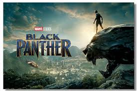 Custom Canvas Wall Decor Black Panther Poster Black Panther Wallpaper Chadwick Boseman Wall Stickers Office Mural