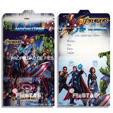 Tarjetas De Invitacion Avengers Paquete X 12 Fiestas Y Sorpresas