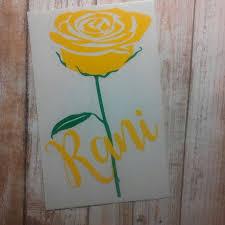 Rose Decal Rose Sticker Roses Monogram Monogrammed Rose Monogrammed Gift Rose Monogram Personalized Rose Yeti Cup Monogram Yeti Decals Monogram Decal