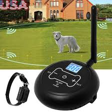 Wireless Electric Dog Fence Waterproof Containment System Shock Collar For 1 Dog For Sale Online Ebay