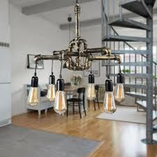 water pipe retro loft ceiling chandeliers