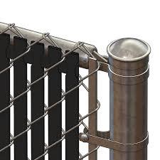 Pds Tl Chain Link Fence Slats Top Lock 6 Foot Black