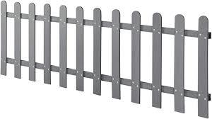 Neu Holz Picket Garden Fence Panel Wpc Wood Plastic Composite 200x60 Cm Gray Amazon Co Uk Kitchen Home