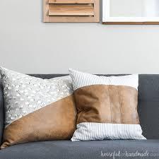 decorative leather throw pillows