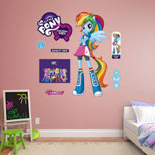 Fathead Hasbro My Little Pony Rainbow Dash Equestria Kids Peel And Stick Wall Decal Hasbro My Little Pony Wall Decals Rainbow Dash