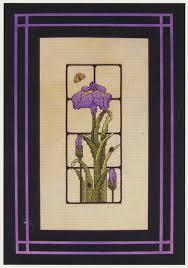 elegant iris counted cross stitch pattern