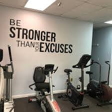 Gym Decor Ideas Gym Design Ideas Ideas For Home Gym Office Wall Sign Classroom Wall Sign Be Stronger Than Your Excuses In 2020 Gym Decor Home Gym Decor Gym Room At Home