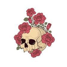Yjzt 13 5cm 16 5cm Interestingly Skull Roses Pvc Motorcycle Car Sticker 11 00700 Car Stickers Aliexpress