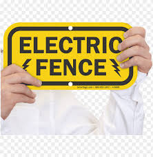 Danger Electric Fence Sign Png Image With Transparent Background Toppng