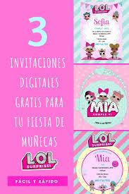 Invitacion Lol Tutorial Invitacion Munecas L O L Con Moldes Gratis