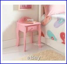 New Amelia Bedside Cabinet Drawer Pink Kids Girls Bedroom Bed Side Table Unit Side Bedside Tableside Bedside Table