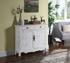 2 door accent cabinet distressed white