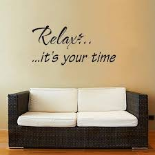 com higoss wall decals quotes relax it s your time wall