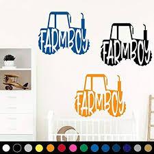 Amazon Com Farmboy Tractor Wall Art Decal Sticker Farm Boy Child Kid Baby Nursery Bedroom Play Game Room Decor V1 Handmade