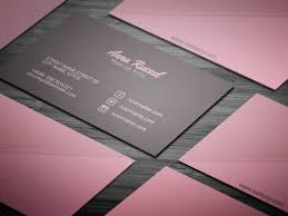 pink makeup artist business card template