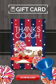 cheerleading coach gift thank you card