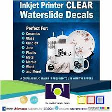 Inkjet Printable Waterslide Decal Combo 5 Sh Each Clear White Paper 8 5 X11 For Sale Picclick