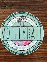 Pura Vida Volleyball Round Sticker Preppy Stickers Hydroflask Stickers Homemade Stickers